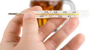Употребление алкоголя при температуре